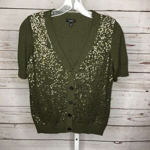 🌸3 for $25 Talbots sequin short sleeve sweater
